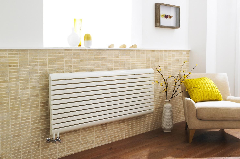 white designer radiator